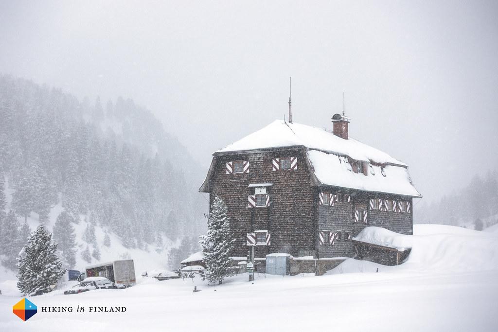 Snowy huts