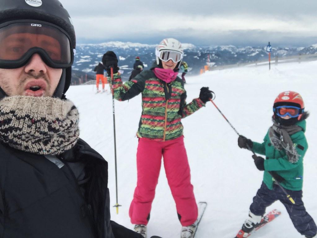 зимние горы в Земмеринге