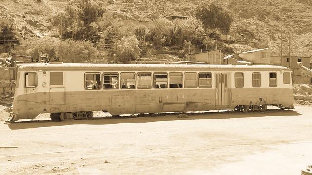 Alter Eisenbahnwaggon von Copiapó