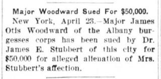 Asbury Pk Pr, Apr 23, 1909, p.11 James Otis Woodward sued for Divorce