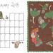 February calendar - colour