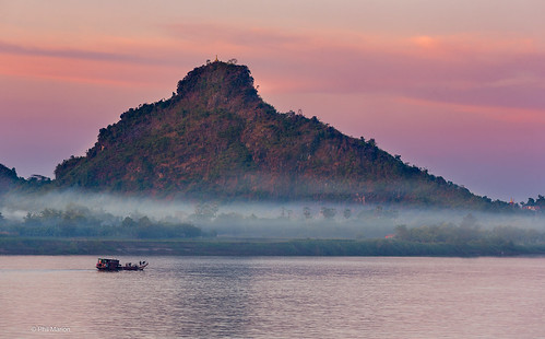 Sunset over Thanlyin River - Hpa'An, Myanmar | by Phil Marion