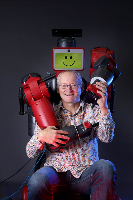 07 Toby Walsh with Baxter the robot
