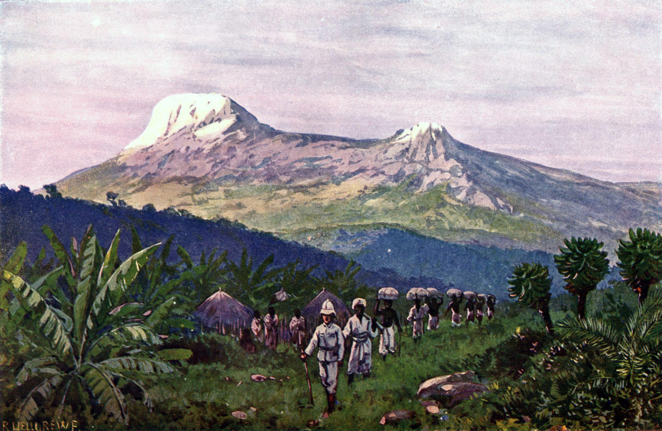 Mount Kilimanjaro painting, circa 1911