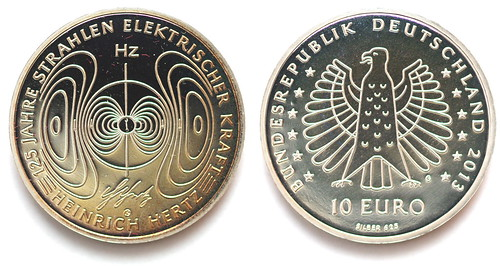 10 Euros y sello de Alemania de 2013