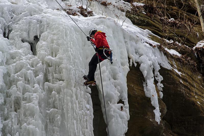 Decending the Falls