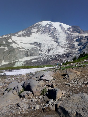 first snow crossing August 2014 Skyline Trail