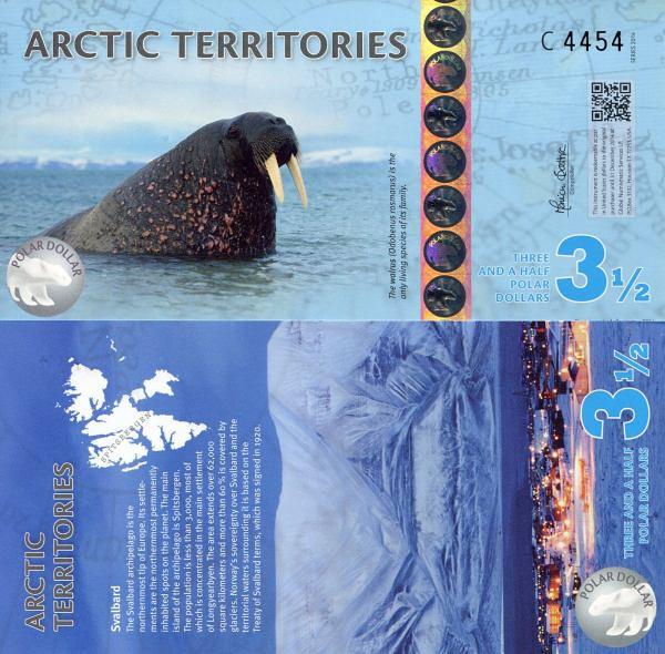 3,5 Polárnych dolárov Arktída 2014, polymer