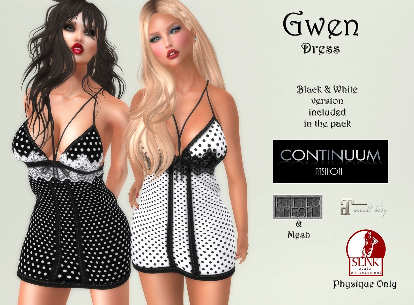 Continuum - Gwen Dress Black & White Pack