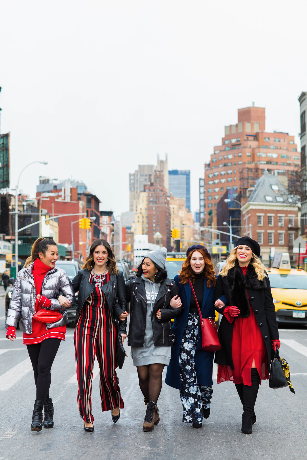 Fashion Blogger Besties NYC New York City Street Style Walking Intersection Fashion Outfits