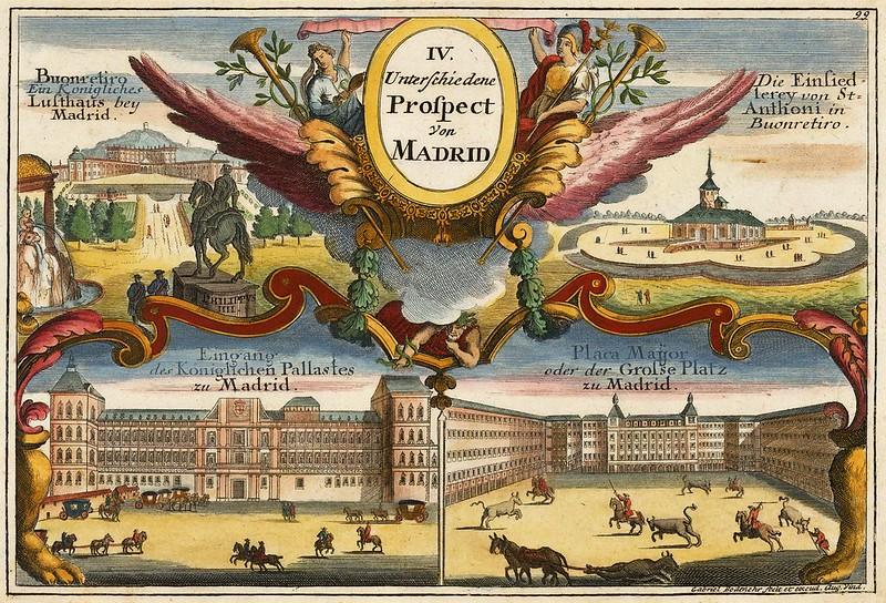 Gabriel Bodenehr - IV Unterschiedene Prospect von Madrid (c.1700)