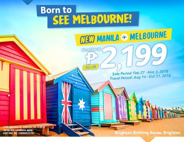 Manila to Melbourne Cebu Pacific Air New Route