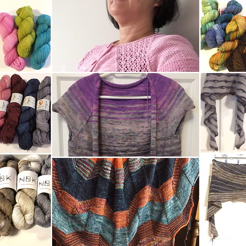 #28daysofyourlys Day 8: Local Indies Shout Out. Some of the Canadian Indie dyed yarns the shop carries! SweetGeorgia; Zen Yarn Garden; Ancient Arts; Koigu; and Northbound Knitting (NBK)
