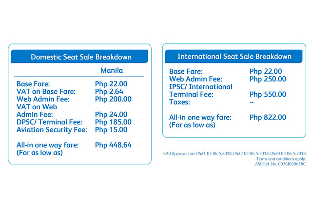 Cebu Pacific 22nd Anniversary Sale Domestic and International