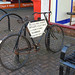 Advertising Bicycle, Fore Streetr, Trowbridge Wiltshire 16 February 2018