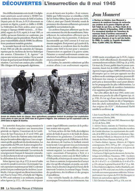 3 - L'insurrection du 8 mai 1945, en Algérie