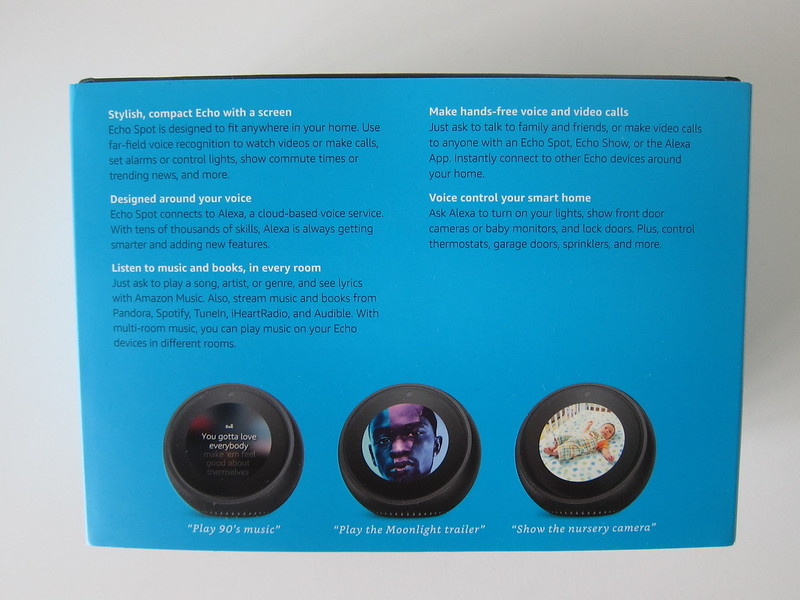 Amazon Echo Spot - Box Back