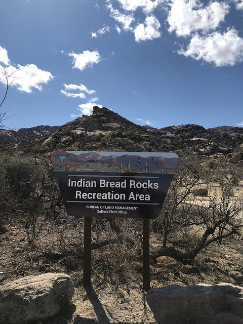Indian Bread Rocks sign