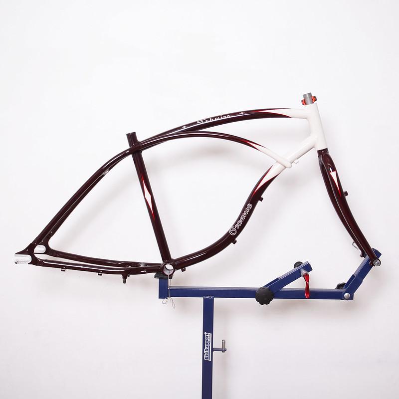 Schwinn Cruiser Frame & Parts Repainted by Swamp Things
