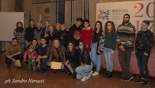 Sala Maggiore Comune di Pistoia premiazione 1° premio Serieta' e Impegno Fernando Melani.