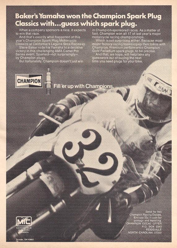 Champion spark plugs Steve Baker
