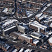 Norwich in the snow - aerial