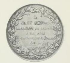 Columbia Simon Bolivar medal reverse