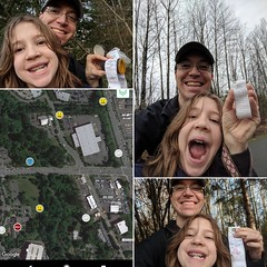 Pokemon is overrated... Had a great mini-adventure #geocaching #daddydaughtertime