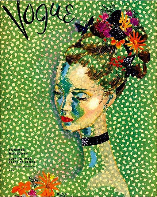 One of my favorite Vogue covers 💚🌸💚