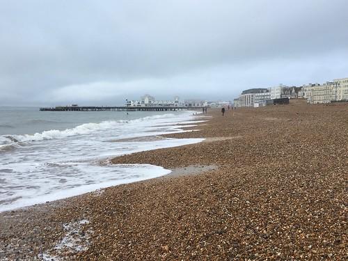 Southsea beach and pier