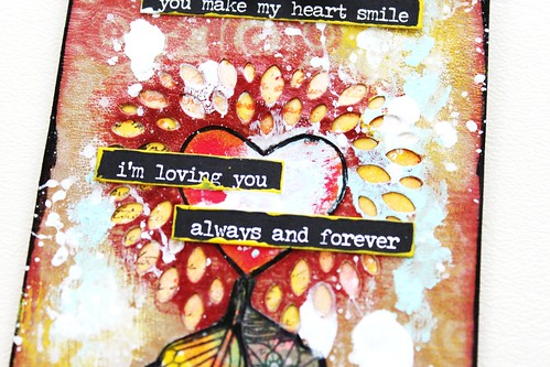 Meihsia Liu Simply Paper Crafts Mixed Media Tag Love in Air Simon Says Stamp Tim Holtz CaraBelle 4
