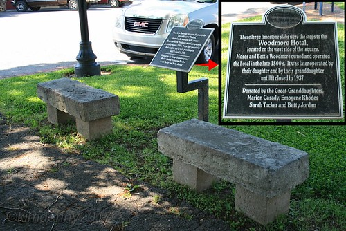 maconcounty lafayette tennessee bench stone steps old historic hotel woodmorehotel sign historicalmarker