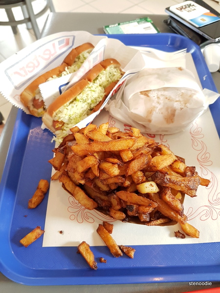2 Hot Dogs Roti/Frites