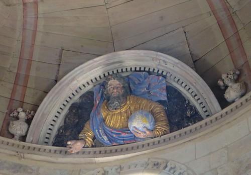 Dieu le Père, église romane, St Blaise (XIIe-XIIIe), Lacommande, Béarn, Pyrénées-Atlantiques, Nouvelle-Aquitaine, France.