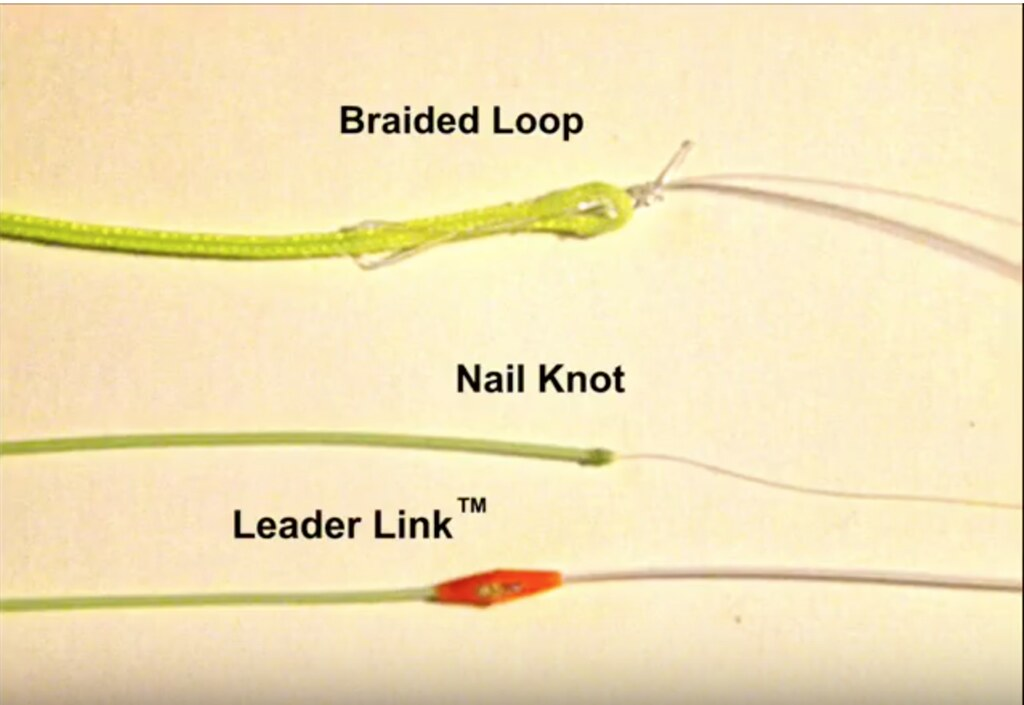 how to connect leader to fly line