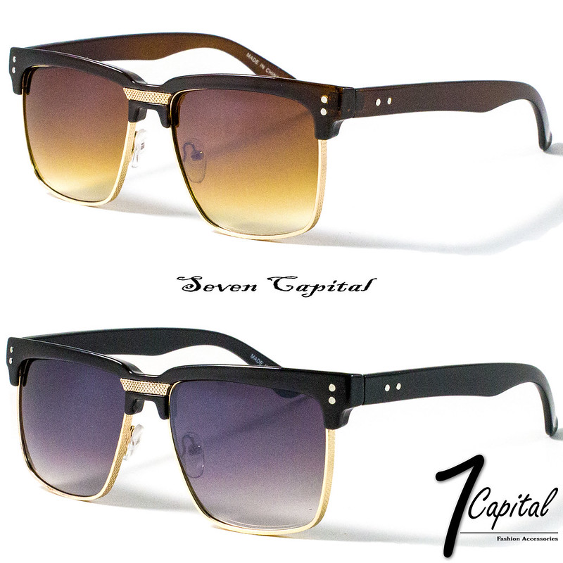e2feabf10ec31 Details about Mens Womens Clubmaster Square Shades Gold Frame Retro Vintage  Summer Sunglasses