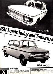 NSU 110SC & 1000C (1967 Advert)
