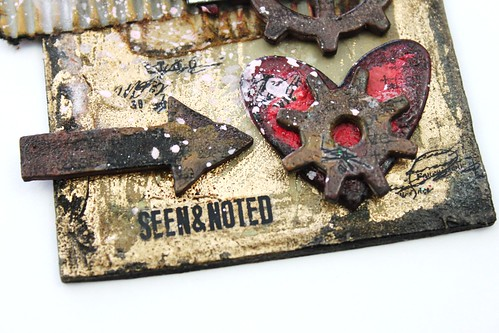Meihsia Liu Simpl Paper Crafts Mixed Media Tag Room for Heart Simon Says Stamp Tim Holtz 10