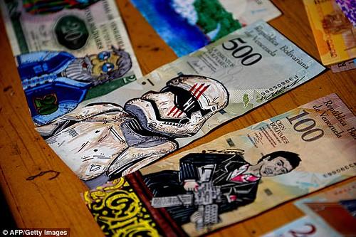 Venezuela banknote art