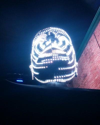 Talking Heads (1) #toronto #tolightfest #distillerydistrict #talkingheads #victorvicsek #latergram