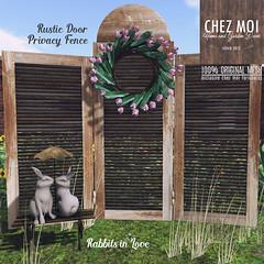 Privacy Fence + Rabbits in Love CHEZ MOI