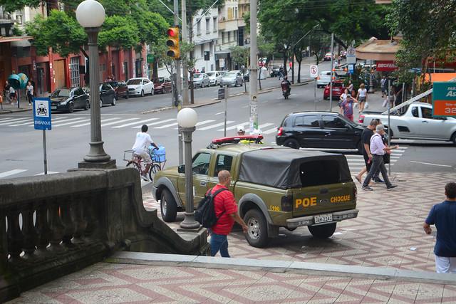 Militarização das ruas centrais e criminalização dos movimentos sociais