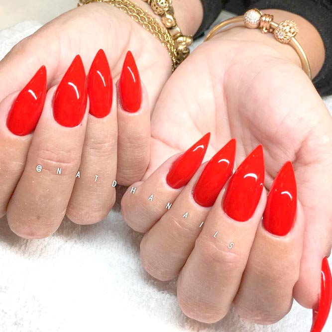 20+ Images Of Red Acrylic Nails Ideas - Fashion 2D
