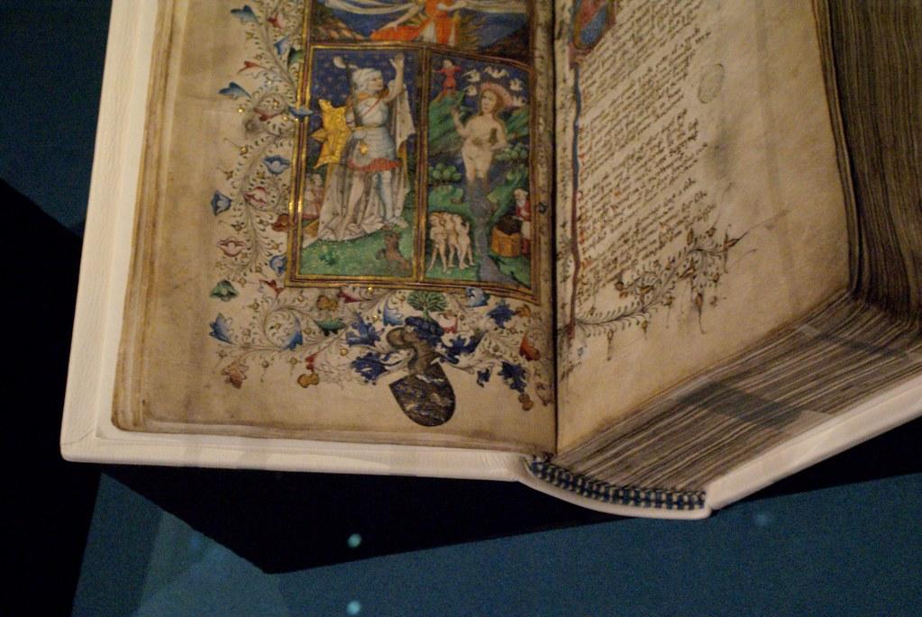 Illustration sur un manuscrit médiéval de la Westion library à Oxford.
