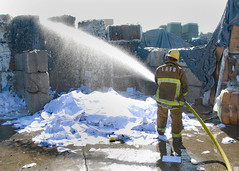 Plastic Pile Erupts in Flames at Sun Valley Recycling Firm