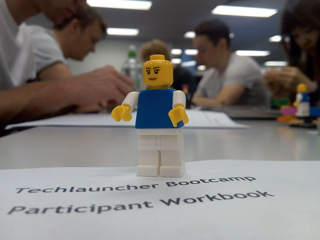 Students taking part in a  Lego Serious Play exercise at the Australian National University in Canberra
