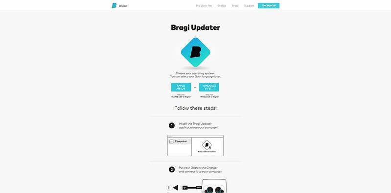 Bragi Firmware Update - App