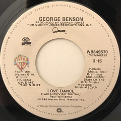 GEORGE BENSON:LOVE X LOVE(LABEL SIDE-B)