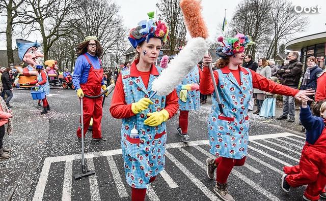 Carnavalsoptocht in Haarle
