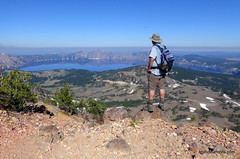 Crater Lake from just below the summit